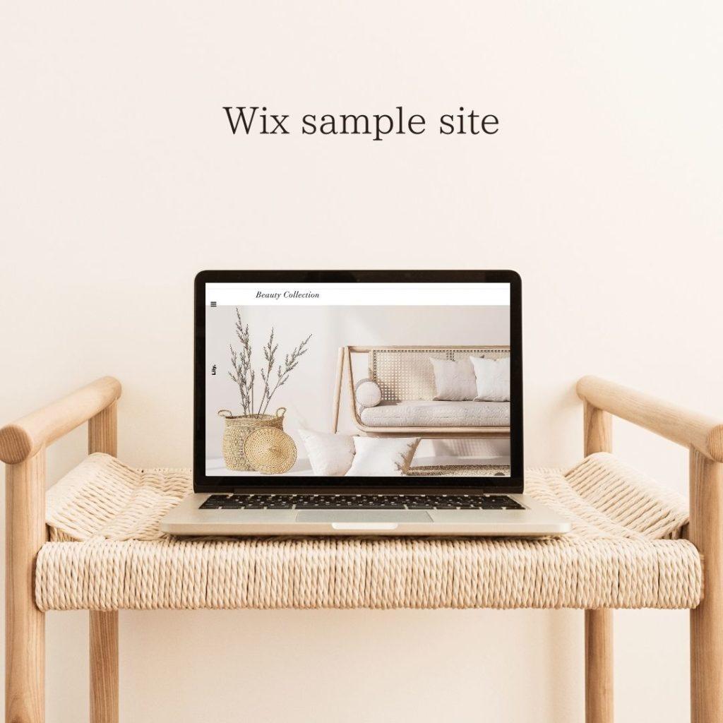 リサデザイン  WIxを使ったホームページ制作